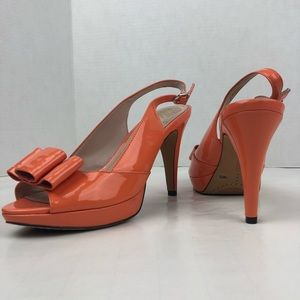 Vince Camuto Ava Coral Slingback Patent Bow Pumps